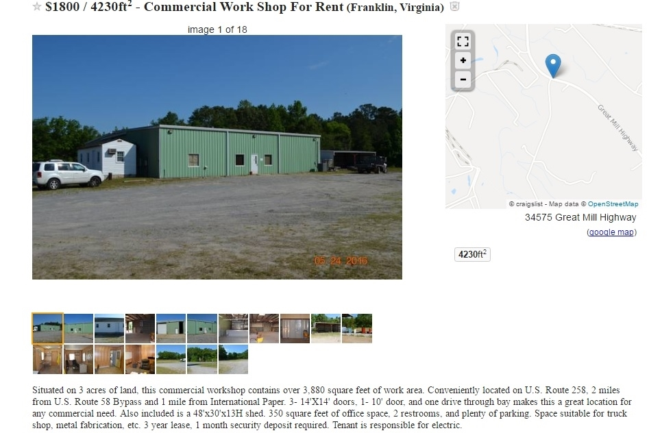 Commercial Building For Lease In Franklin Southampton U S Route
